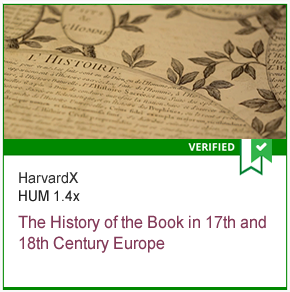 HUM 1.4x The History of the Book in 17th and 18th Century Europe