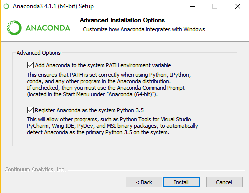 Instructions for installing Anaconda Python (adapted from