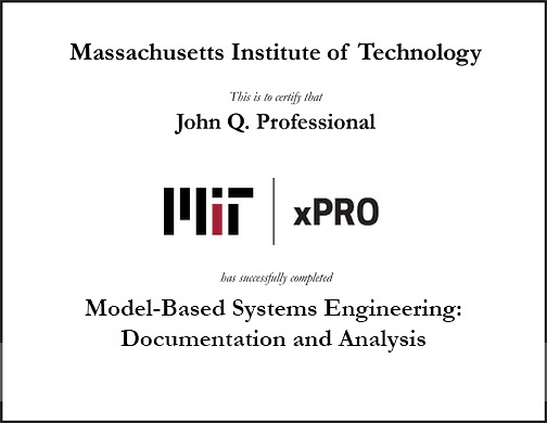 Model-Based Systems Engineering: Documentation and Analysis   MIT xPro