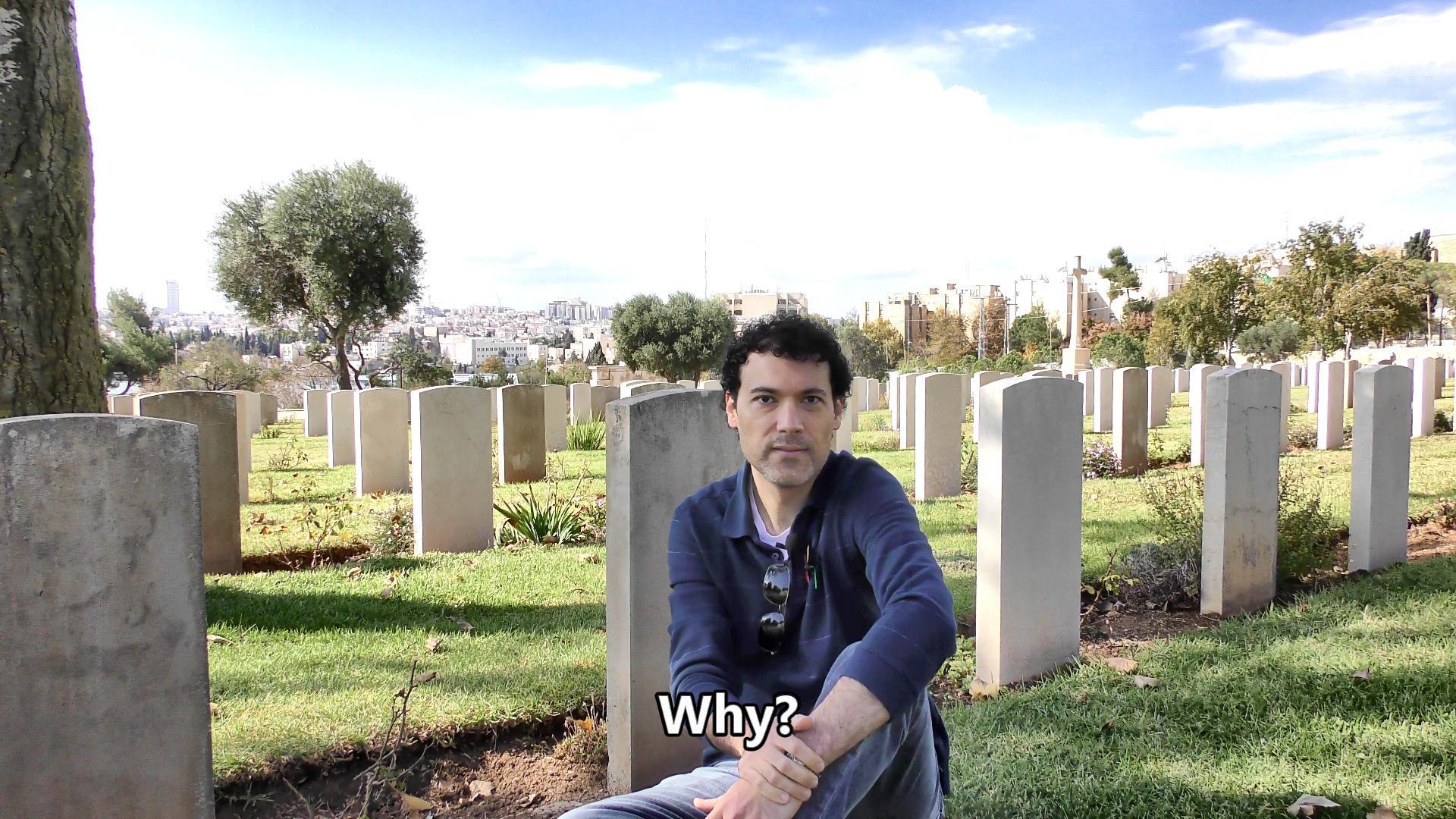A brief talk at the Jerusalem British War Cemetery