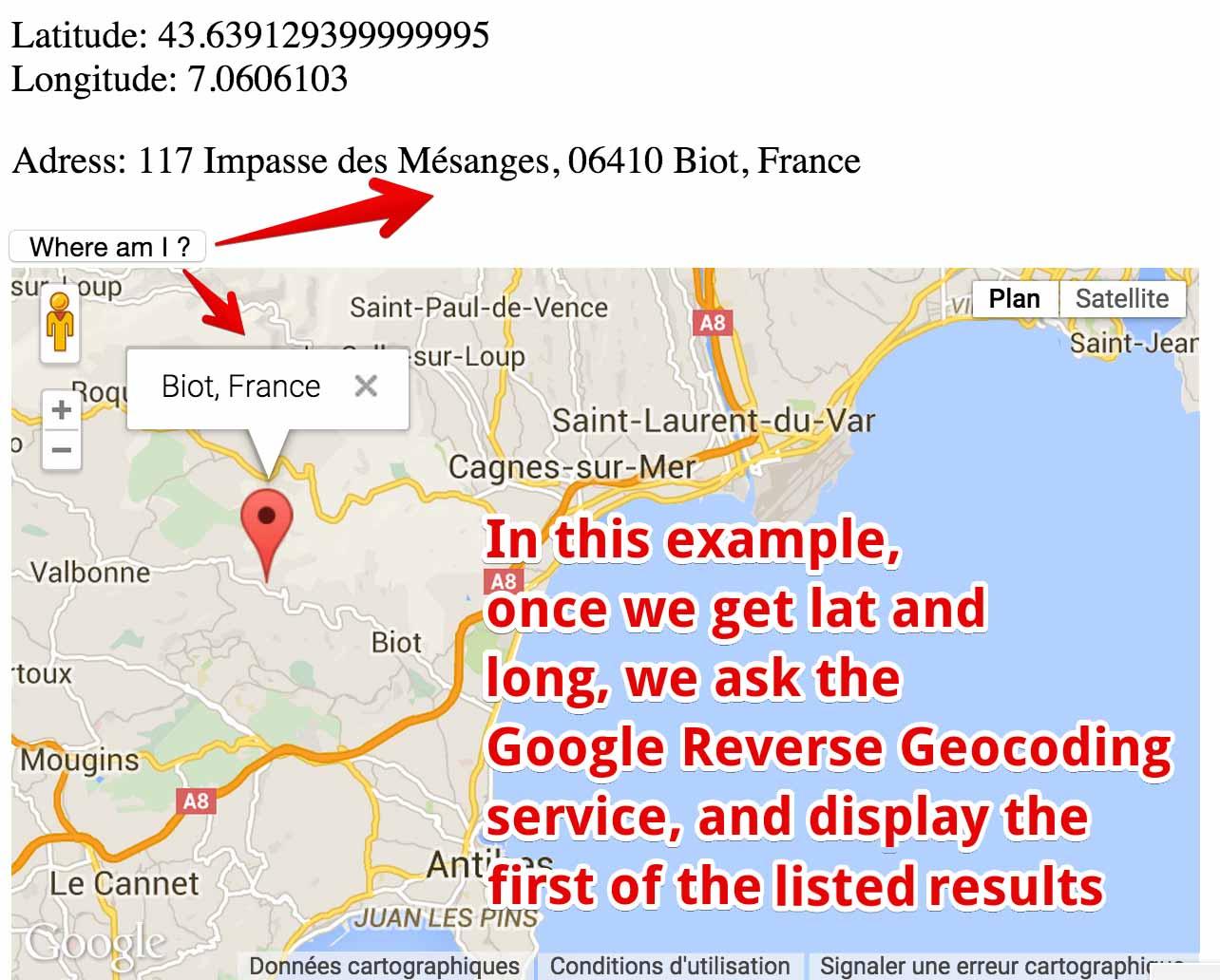 Reverse geocoder example