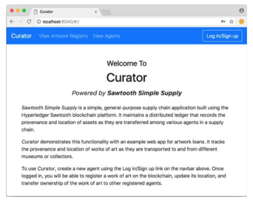 Curator Website Screenshot