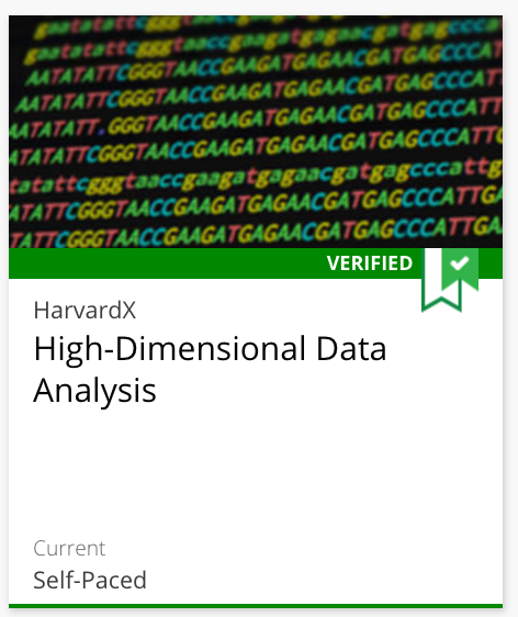 Course 4: High-Dimensional Data Analysis