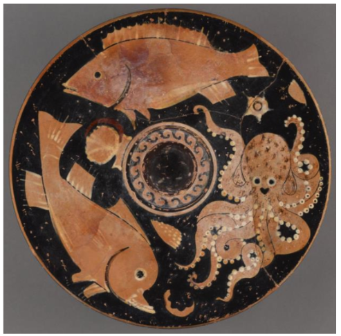 Paestan Red-Figure Fish Plate