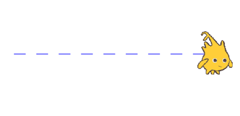 dotted line example