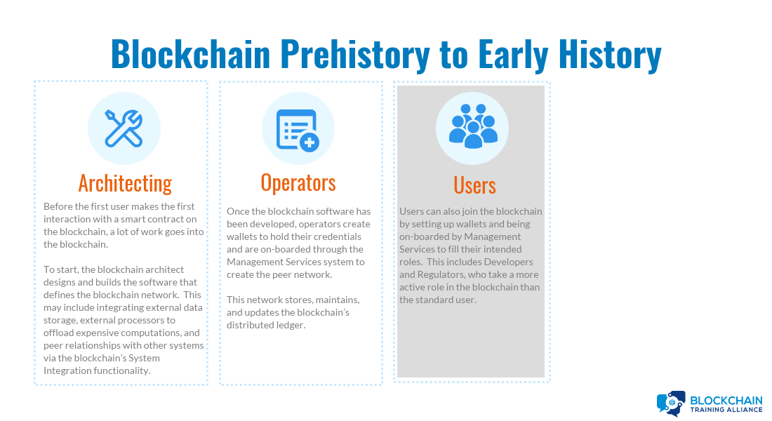 Blochain Prehistory and Early History