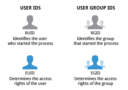User and Group IDs