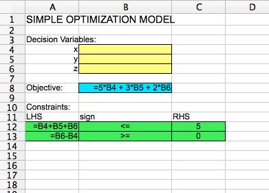 LinearOptModel